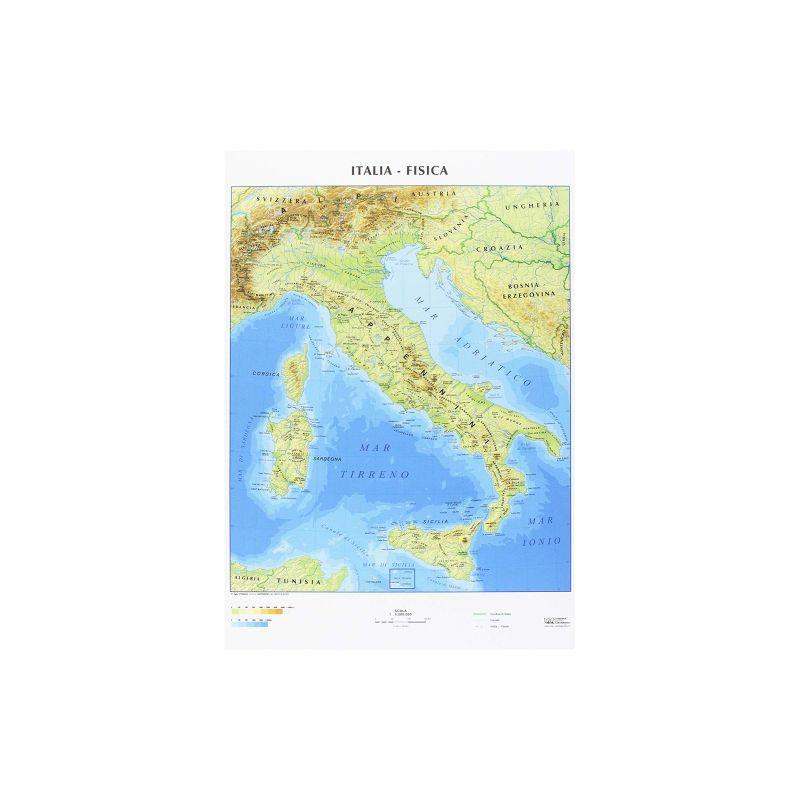 Cartina Politica Italia Formato A3.Carta Geografica A3 Italia Cartine Geografiche Anabasi