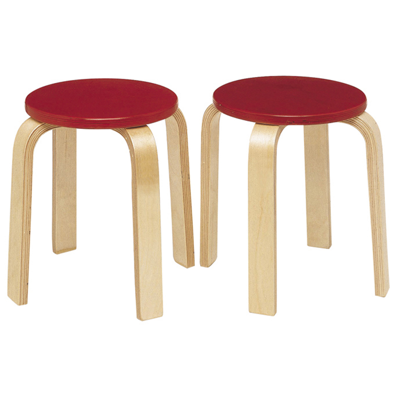 Stools - Set of 2  Red - Set of 2