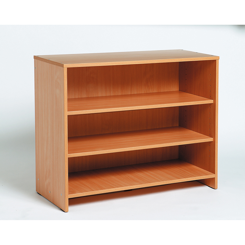 Low Shelving Unit - Beech-effect