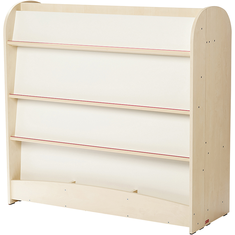 Double-sided Tilted Shelving Unit - Maxi Model  Birch-effect