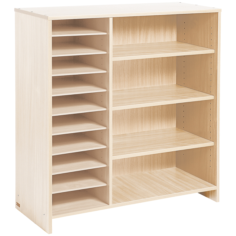 Tall Unit with Pigeonholes and Shelves - Birch-effect