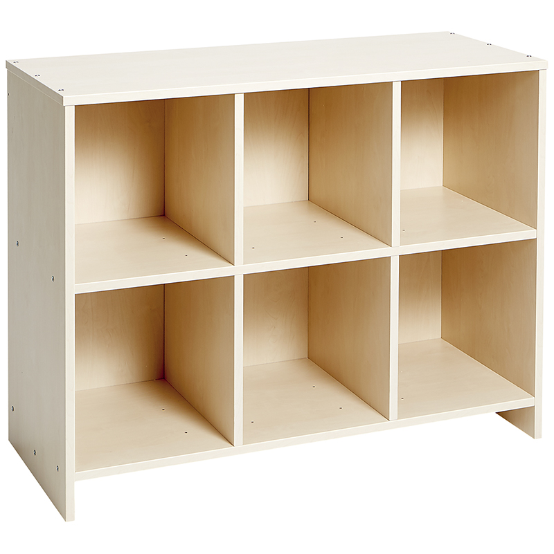 Low Cubbie Storage Unit - Birch-effect